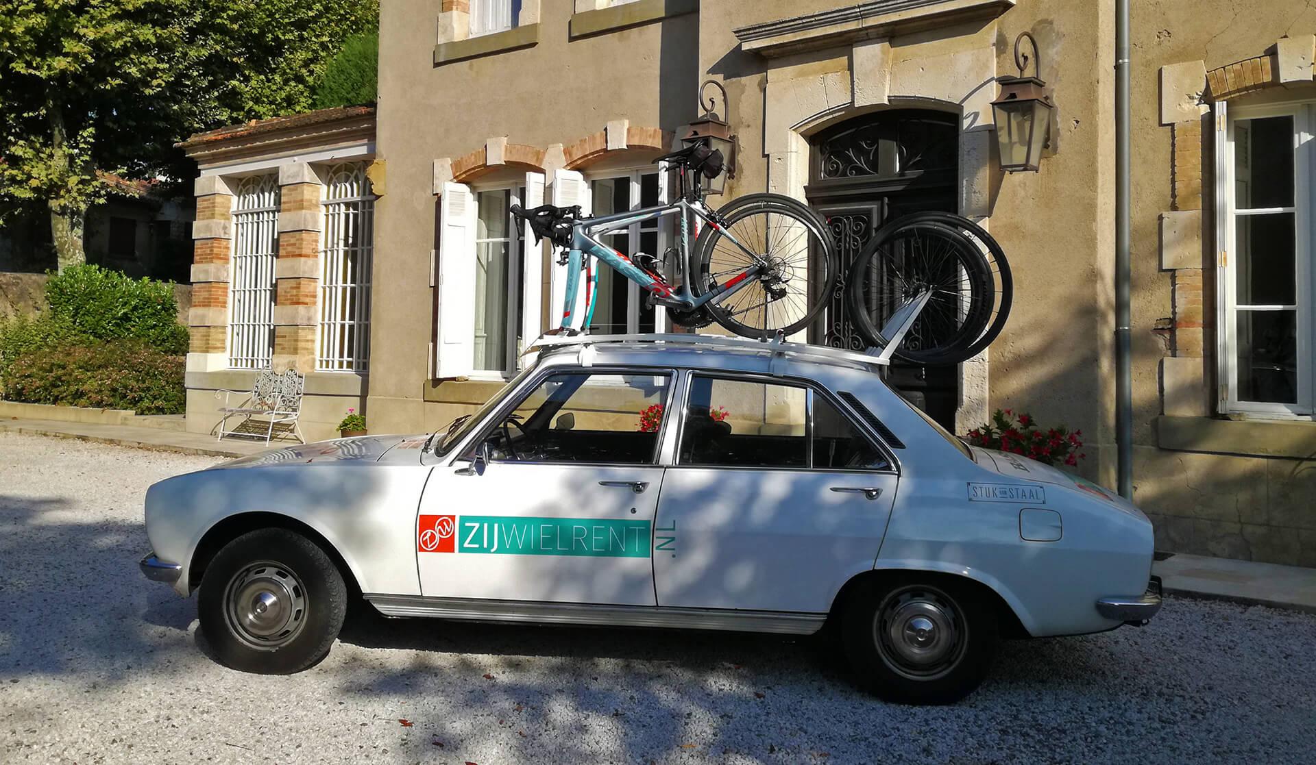Dakdrager voor 4 fietsen