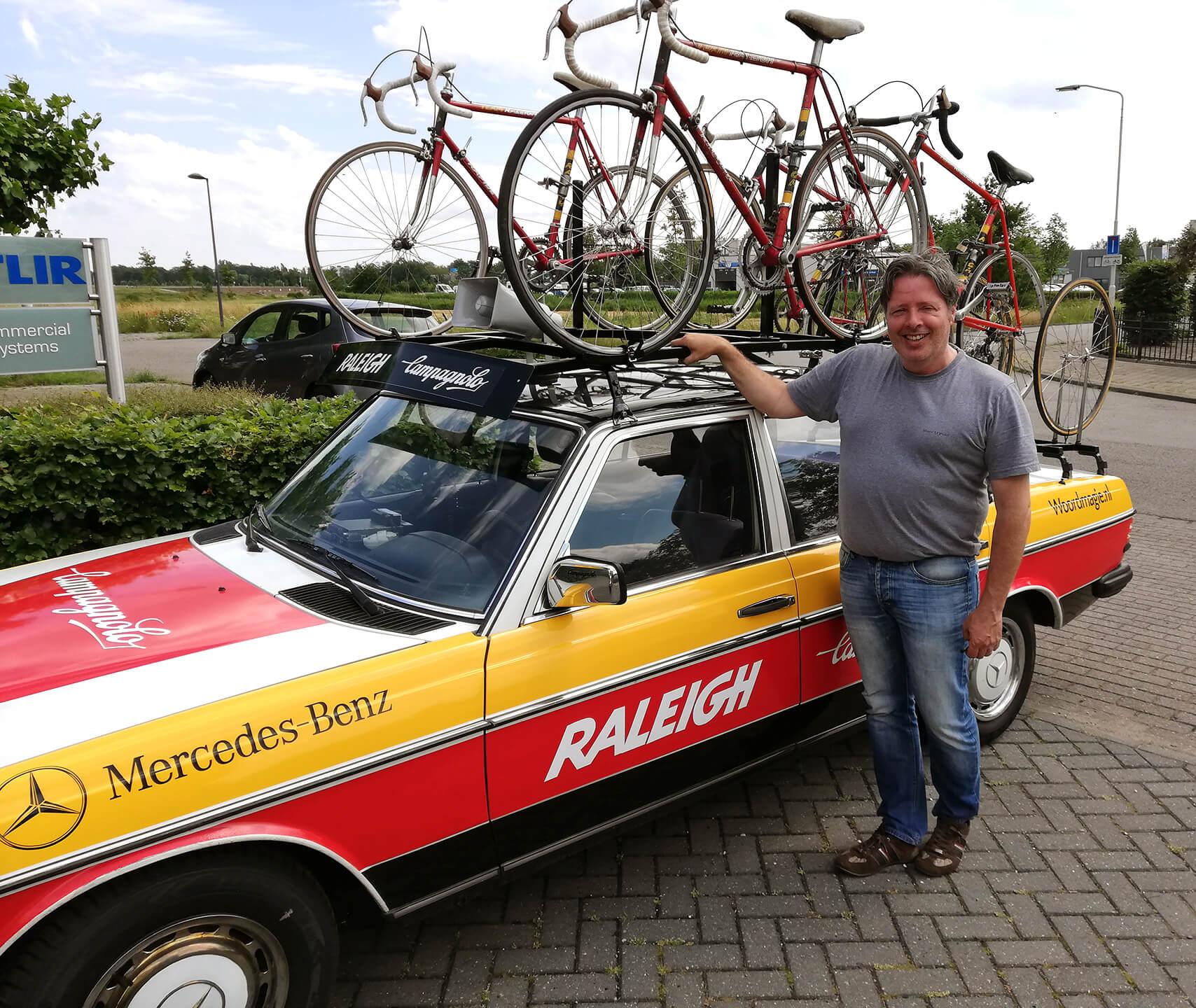 Raleigh ploegleidersauto John van Ierland